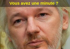 J'ai reçu une lettre de Julian Assange