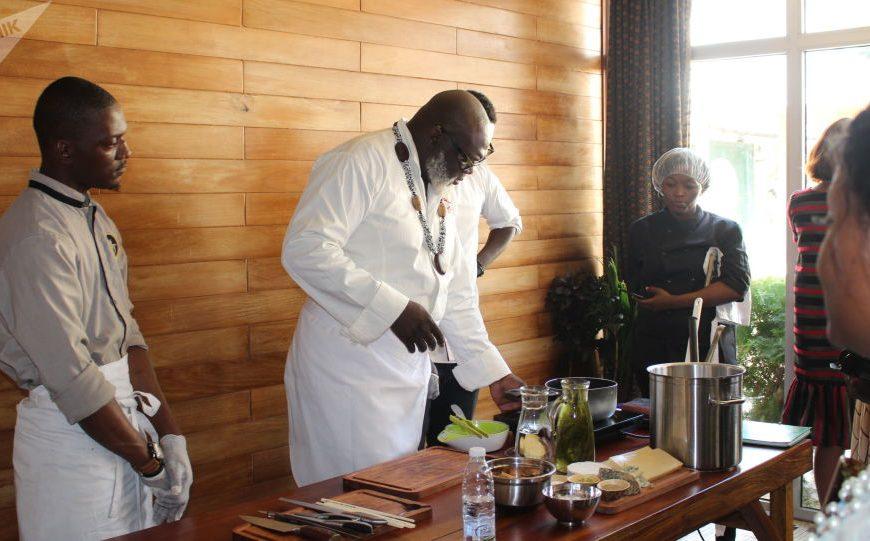 Le chef camerounais Christian Abégan, ambassadeur de l'Afrique culinaire