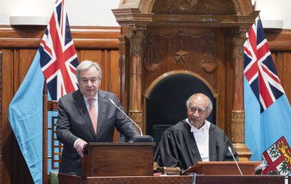 Le chef de l'ONU salue le leadership des Fidji dans la protection du climat et des océans