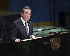 Wang Yi, le ministre chinois des Affaires étrangères, s'adresse à l'Assemblée générale de l'ONU