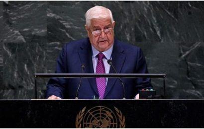 Syrie / Allocution de Walid al-Mouallem devant la 74ème session de l'Assemblée générale de l'ONU