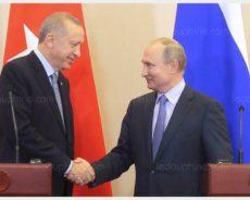 Déclaration à la presse de Vladimir Poutine et Recep Tayyip Erdogan à Sotchi