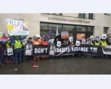 Royaume Uni / Soutien à Julian Assange – Londres –