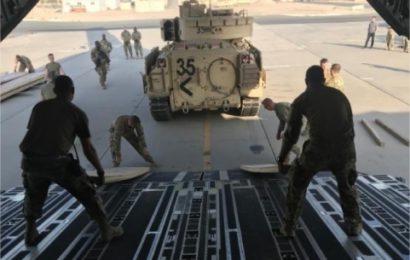 Des unités d'une brigade blindée de la Garde nationale US déployée à Deir Ezzor en Syrie