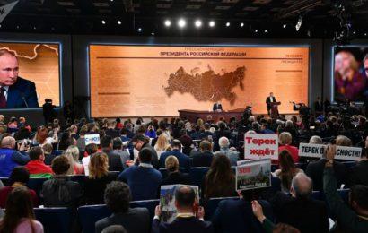 Russie / La 15e grande conférence de presse annuelle de Vladimir Poutine