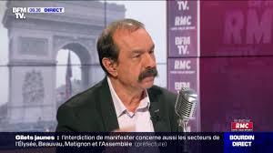 France / Philippe Martinez (CGT) face à Jean-Jacques Bourdin en direct
