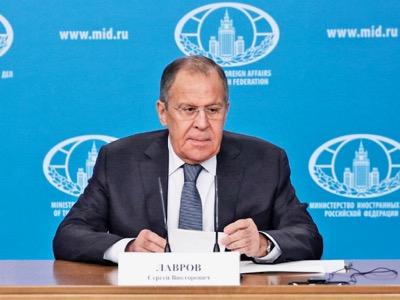 Russie / Conférence de presse annuelle de Sergueï Lavrov à Moscou