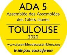 France / 5e Assemblée des Assemblées des Gilets Jaunes à Toulouse du 6 au 8 mars 2020