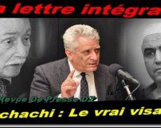 Algérie / La lettre intégrale de Me Ali Yahia Abdenour qui révèle le vrai visage de Bouchachi