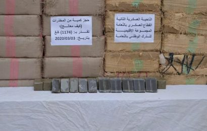 L'armée algérienne saisit près de trois tonnes de cannabis à la frontière avec le Maroc – images