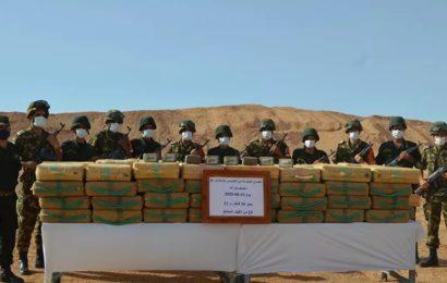 L'armée algérienne a encore saisi plus de trois tonnes de cannabis à la frontière avec le Maroc – photos