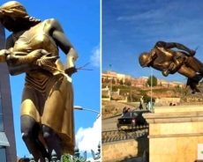 Algérie / La statue de la femme allaitant son bébé vandalisée à Mascara