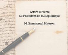 France / Lettre ouverte à monsieur Macron et au gouvernement