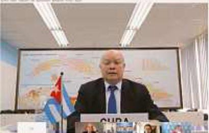 Cuba offre ses modestes ressources et capacités en faveur de la coopération