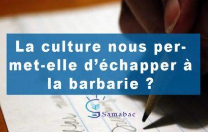 SORTIR DE LA BARBARIE (2/3) : La culture nous permet-elle d'échapper à la barbarie ?