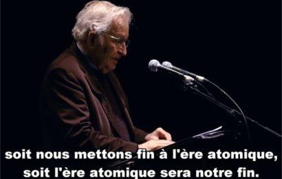 Climat, nucléaire : Noam Chomsky sur l'extinction de la vie humaine