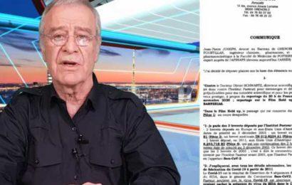 France / Internement psychiatrique pour le Pr. Fourtillan qui a porté plainte contre l'Institut Pasteur