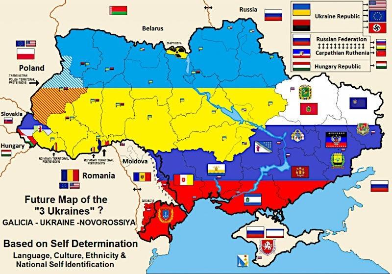 LA SCISSION DE L'UKRAINE EST INÉVITABLE AU REGARD DE L'HISTOIRE