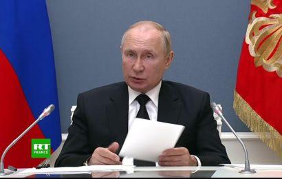 Vladimir Poutine prend la parole au XIIIe sommet des BRICS